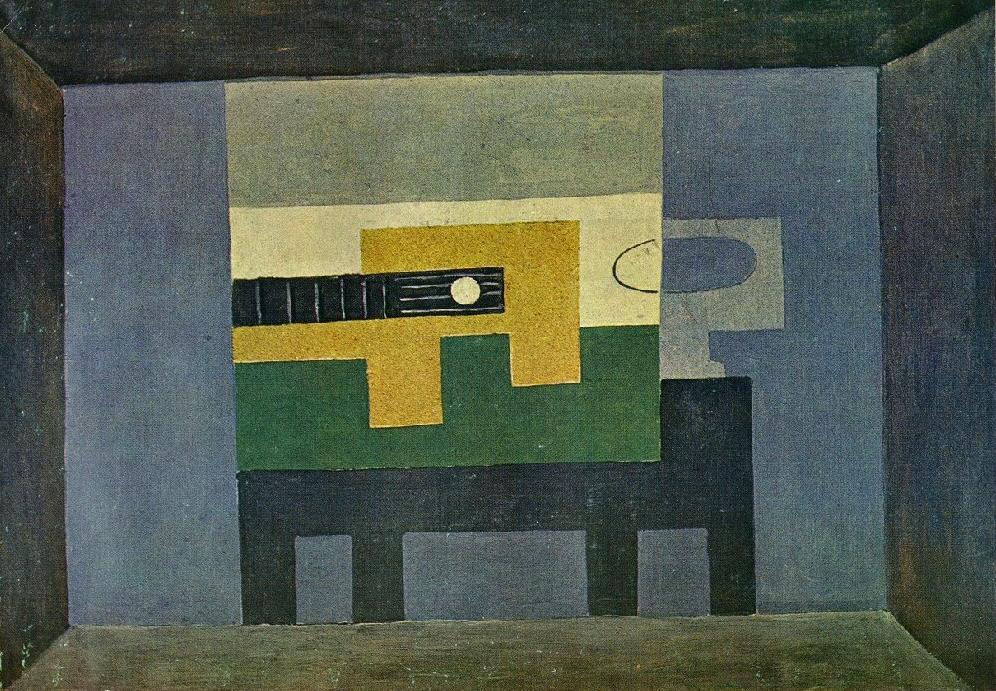 1918 Guitare Et Cruche Sur Une Table Image Album