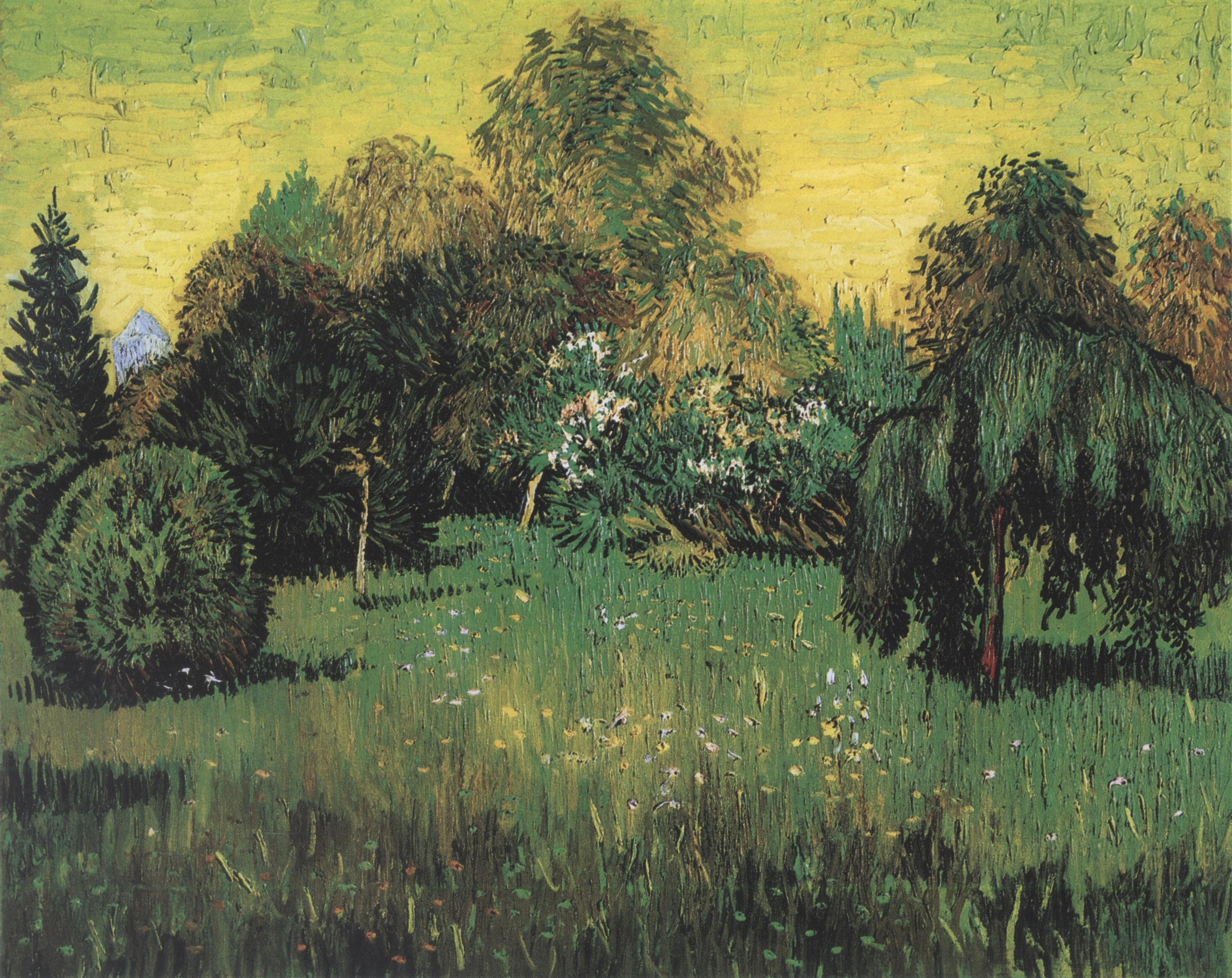 519 Public Park With Weeping Willow The Poet S Garden I Arles 1888